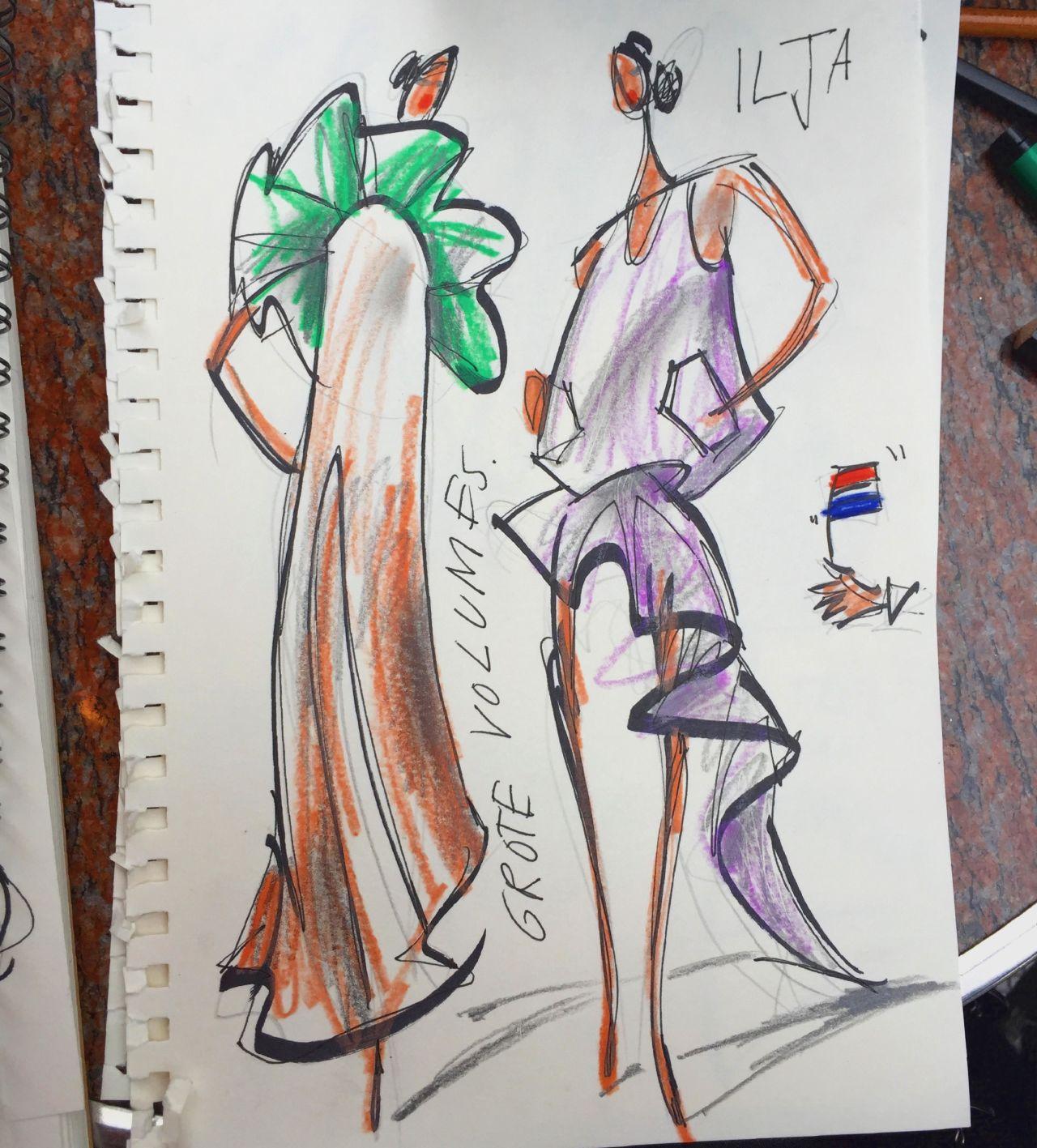 Mode Tekeningen van Piet Paris